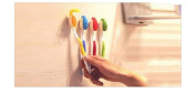 Mixed Colour Creative Korean Smile Style Plastic Toothbrush Holders