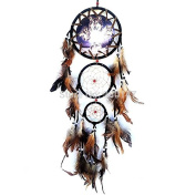 Indian Wolf Head Dream Catcher for Car Feathers Hanging Craft Dreamcatcher Decoration Ornament Gifts