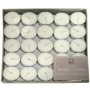 Hosley's Set of 50 Unscented White Tea Light Candles. Ideal for Parties, Weddings, Spa, Aromatherapy Settings