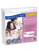 Protect-A-Bed Fully Encased Waterproof Fitted Mattress Protector