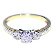Diamond Engagement Ring 3 Stone Style 10K Gold 0.15CTTW Promise Ring