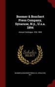 Boomer & Boschert Press Company, Syracuse, N.Y., U.S.A. 1894  : Annual Catalogue. 22d, 1894