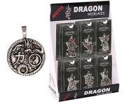 Pewter Dragon Yin/Yang Token Necklace