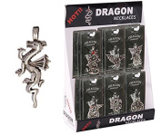 Pewter Winged Dragon on All Fours Necklace