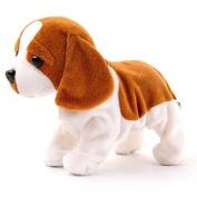 Generic Electronic Pet Singing Walking Dog Kids Electric Toys Robot Dog Toys for Children Brown