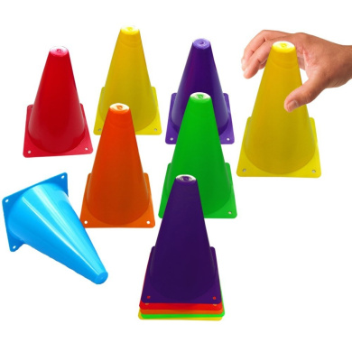 Toy Cubby Colourful Flexible Plastic Activity Play Traffic Cones Set - 24 Pcs