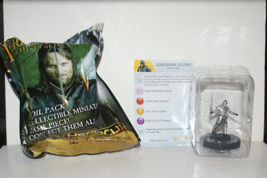 HeroClix The Lord Rings The Return King Gondorian Soldier 004 w/ Card