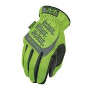 SFF-91-009 The Safety FastFit Easy On/Off Elastic Cuff Gloves Hi-Viz Yellow Medium - MCX-SFF-91-009