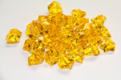 0.9kg of Yellow Acrylic Ice Rock Vase Gems or Table Scatters
