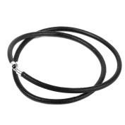 Beautiful Bead Solid Colour Artificial Leather Cord Rope for Necklace Bracelet 41cm , Black