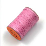 AngelaKerry 1 Roll Pink Leather Sewing Small Waxed Thread 0.8mm Polyester 60m Cord Stitching Leathercraft