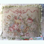 New Royal Collection Handmade Wool Needlepoint Cushion Cover/ Pillow Sham NP277