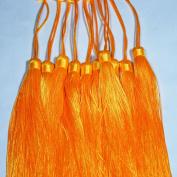 Quasimoon Yellow Tassel Hanging Ornament Accessory (10 PACK) by PaperLanternStore