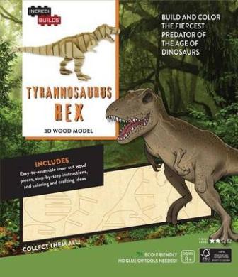 Incredibuilds: Tyrannosaurus Rex 3D Wood Model (Incredibuilds)