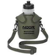 NDuR 1360ml Survival Canteen w/Advanced Filter & Olive Pouch