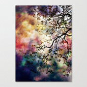 Pioenfly the Tree of Many Colours Unframed Canvas Art Wall - 30cm by 30cm