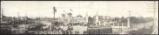 c1908 Texas State Fair, Main Entrance 90cm Vintage Panorama photo