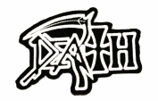 Death Logo Heavy Metal Music Band Woven Patch