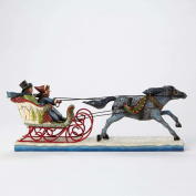 Jim Shore for Enesco Heartwood Creek Victorian Couple in Sleigh Figurine, 13cm
