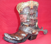 Cowboy Boot Bank Western American Flag Themed Decor Piggy Bank