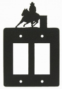 Barrel Race Double GFI Rocker Light Switch Plate Cover