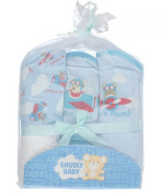 Snugly Baby Boys Hooded Towels 3-pack