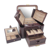 Morelle & Co Natalie Leather Two Side Pullout Jewellery Box
