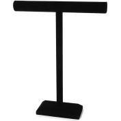Black Velvet T-shaped Jewellery Stand