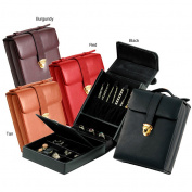 Royce Leather Top-grain Nappa Leather Jewellery Case features 4 Hooks