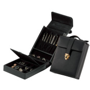 Royce Black Leather Luxury Jewellery Case