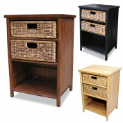 Heather Ann Enclosed Bamboo Cabinet with 2-Drawers