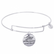 Rembrandt I Love You To The Moon Charm Expandable Wire 'Pure' Bangle