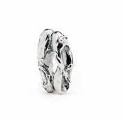 Novobeads Ballet Slippers Sterling Silver Charm Bead - Fits all major bead bracelets
