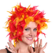 Chandelle Multicoloured Feather Wig