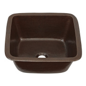 Sinkology Greco Dual Mount Handmade Pure Solid Copper Sink 38cm Prep Bar Sink in Aged Copper