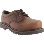 Men's Roadmate Boot Co. 403 10cm Oxford Steel Toe Chocolate Brown Crazy Horse Leather
