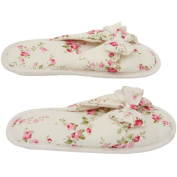 Women's Memory Foam Slippers - Best Floral Peonies House Shoes with Butterfly Ties for Indoor or Outdoor