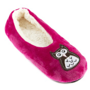 Leisureland Women's Fleece Lined Embroidery Cosy Slippers