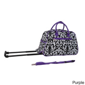 World Traveller Damask 50cm Carry-on Rolling Duffle Travel Bag