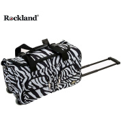 Rockland Deluxe Zebra 60cm Carry On Rolling Upright Duffel Bag