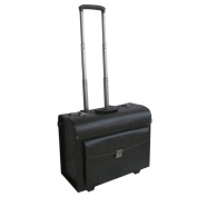 Amerileather 46cm Leatherette Carry-on Rolling Pilot/ Catalogue Case
