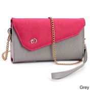 Kroo Clutch Wallet with Wristlet and Shoulder Straps for Smartphone up to 14cm