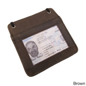 Continental Leather Travellers Neck ID Holder/ Business ID Badge/ Card Holder with Long Adjustable Neck Strap Lanyard