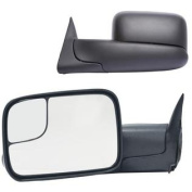 Fit System 60177-78C Dodge Ram Driver/Passenger Side Replacement Manual Foldaway Towing Mirror Set with Dual Glass