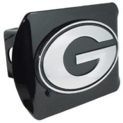 "University of Georgia Bulldogs ""Black with Chrome G Emblem"" NCAA College Sports Metal Trailer Hitch 5.1cm Auto Car Truc"