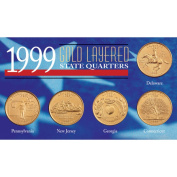 American Coin Treasures 1999 Gold-layered Statehood Quarters