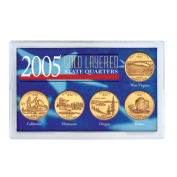 American Coin Treasures 2005 Gold-layered Statehood Quarters