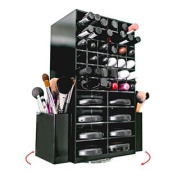 Spinning Acrylic Makeup Organiser Holder for Lipstick Brushes and Powder   Cosmetics Storage Box Solution   By N2 Makeup