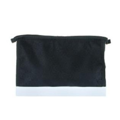 Lot of 4 Black Heart Cosmetic Bag With Zipper Purse Clutch