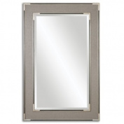 Alfred Oversized Grey/Tan Mirror